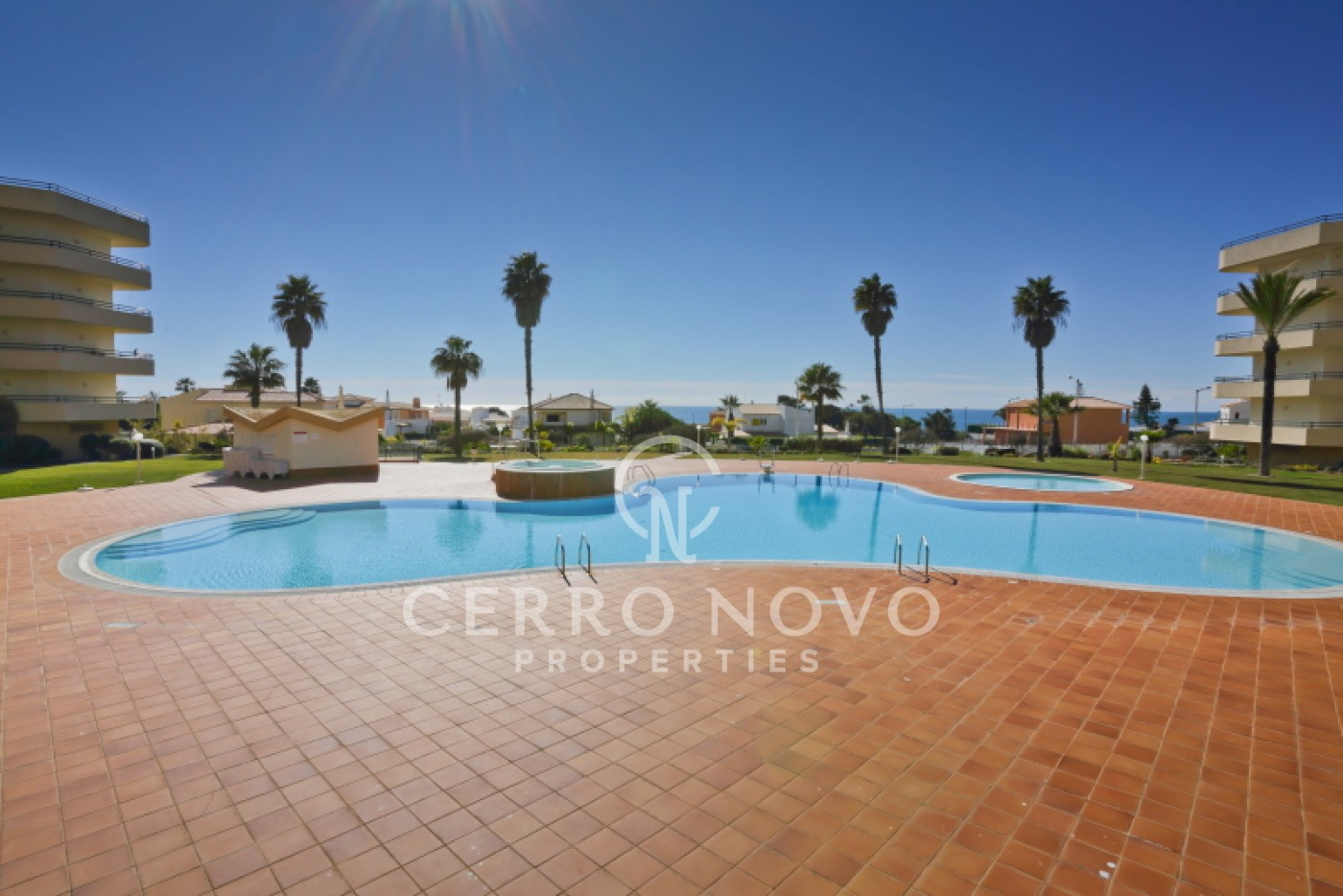 Spacious three bedroom apartment with superb sea view