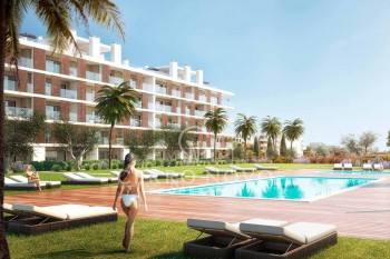 Luxury apartments with terraces and heated swimming pool