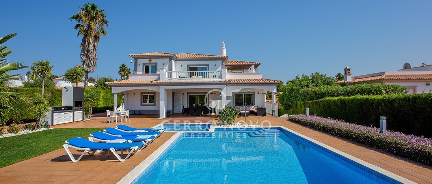 Stunning modern five bedroom (2+3) villa with heated salt pool