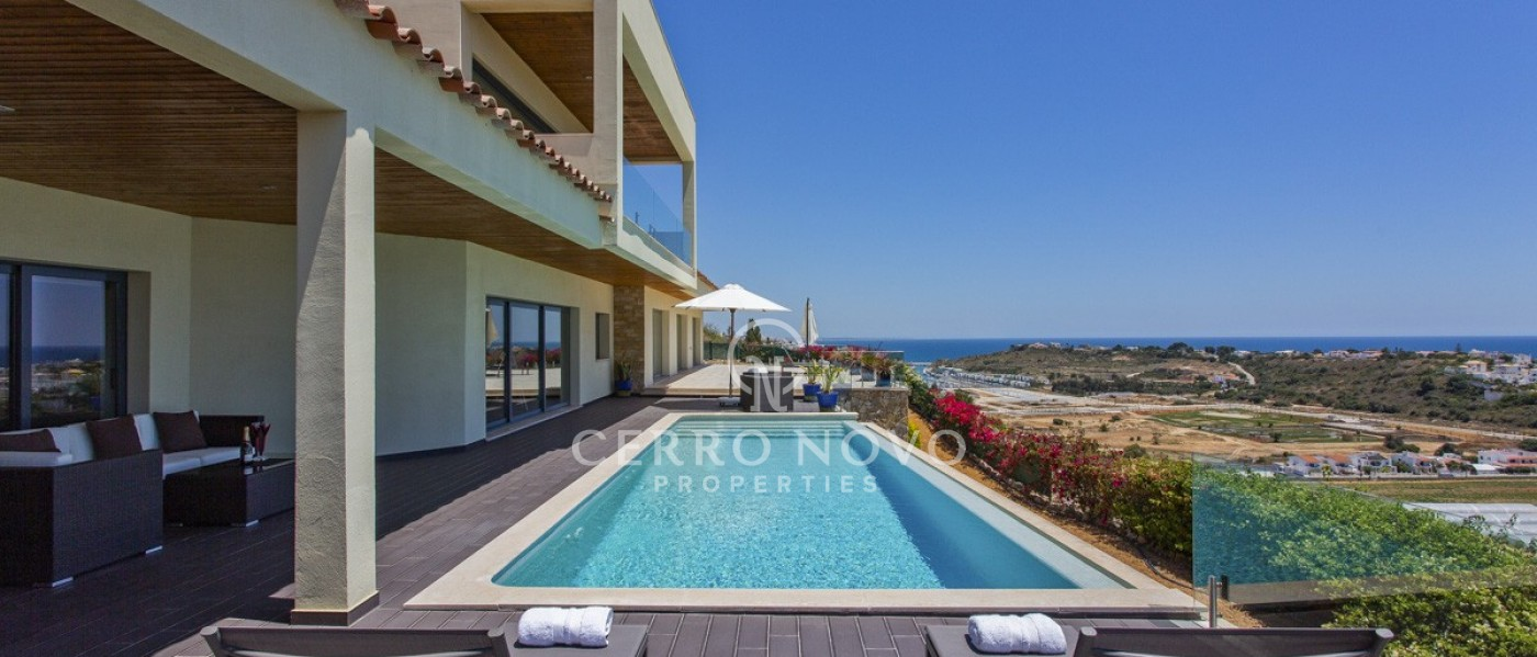 Contemporary cliff top villa with stunning sea views